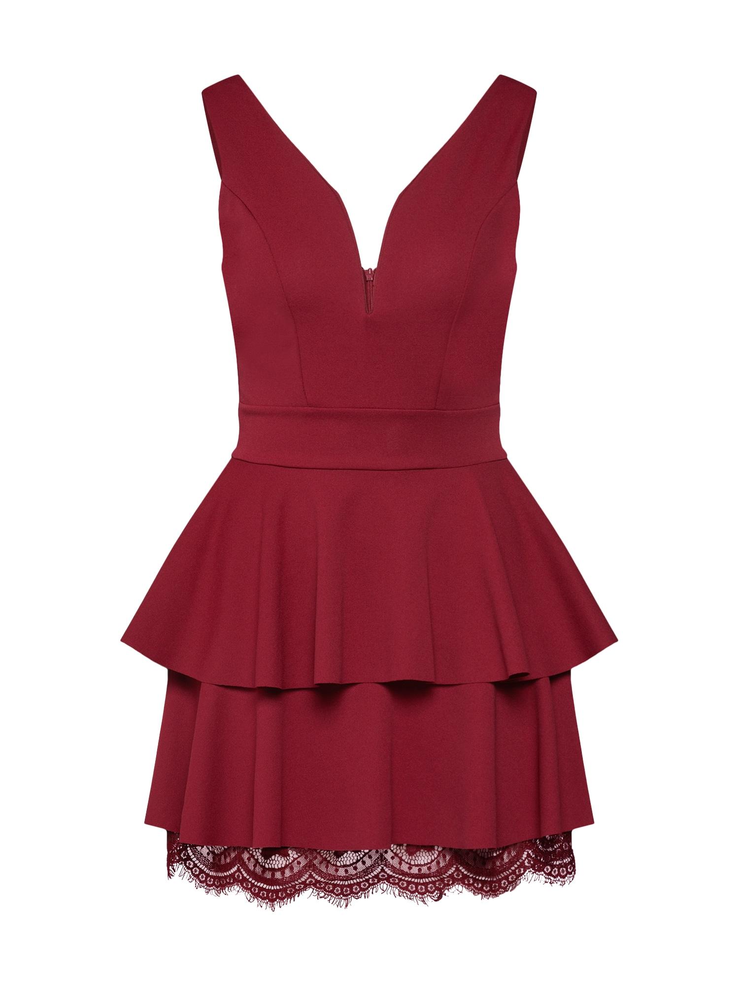 WAL G. Kokteilinė suknelė vyšninė spalva
