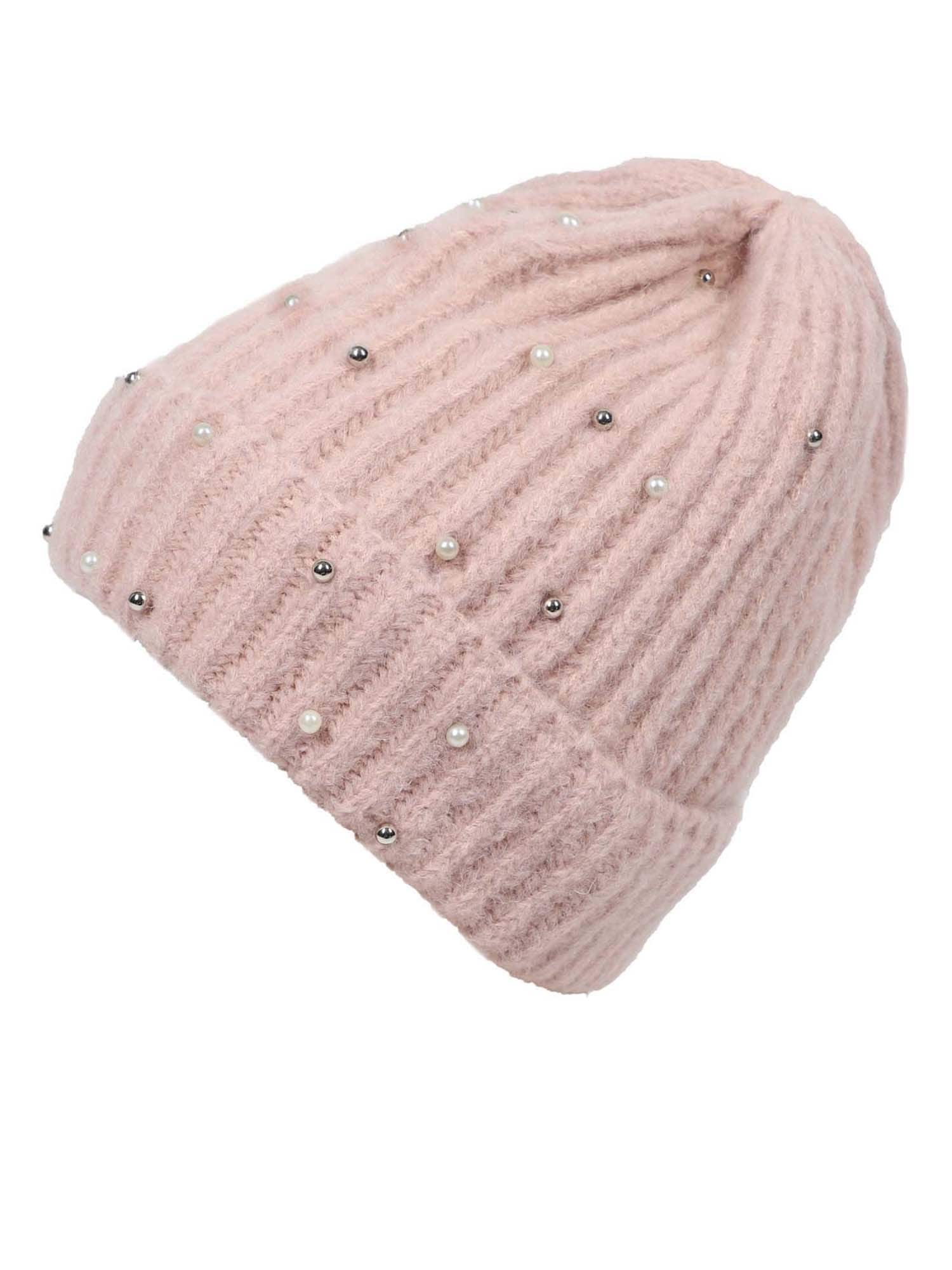 ABOUT YOU Megzta kepurė 'Nora' rožių spalva