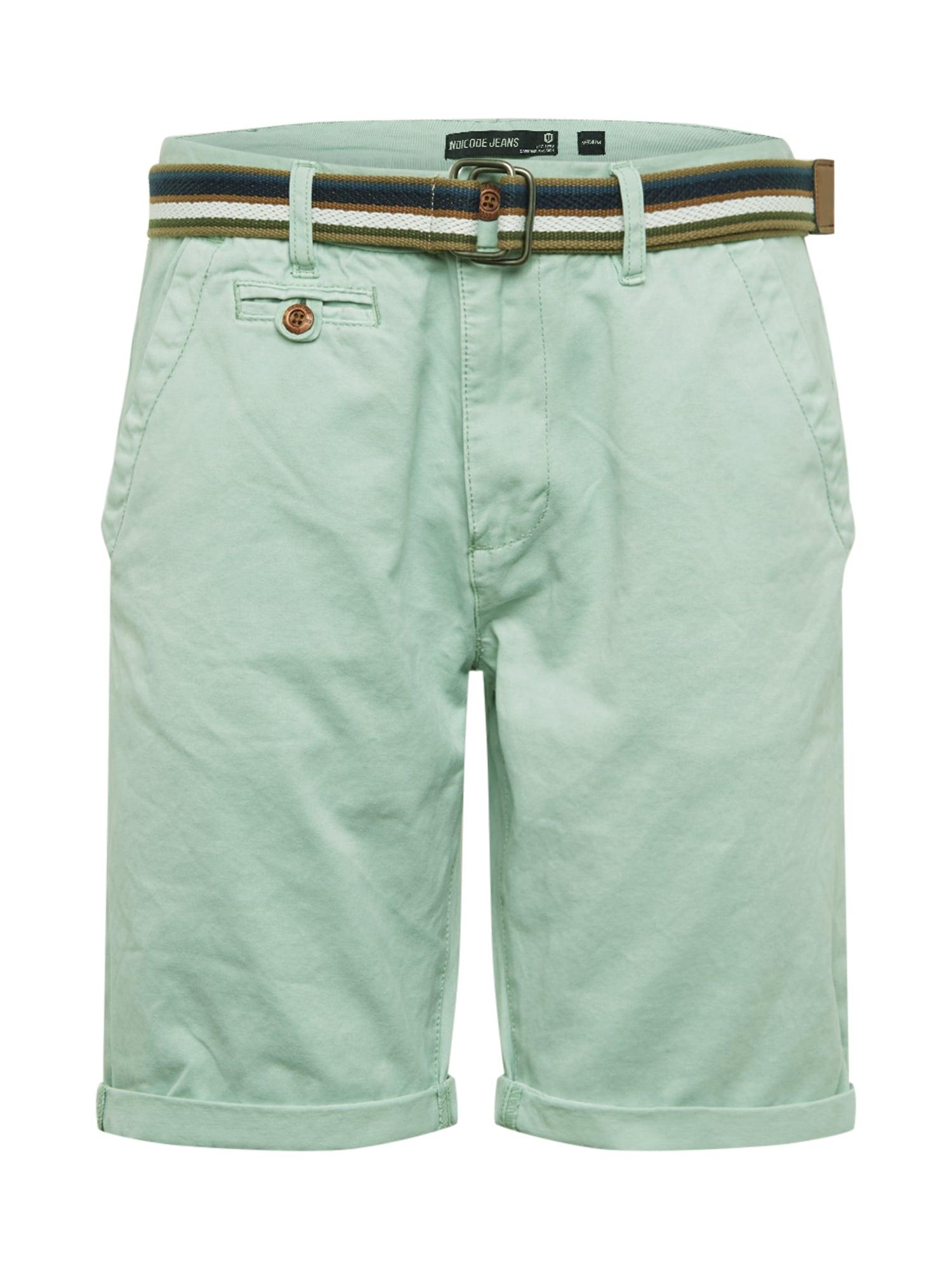 INDICODE JEANS Chino stiliaus kelnės 'Royce' mėtų spalva