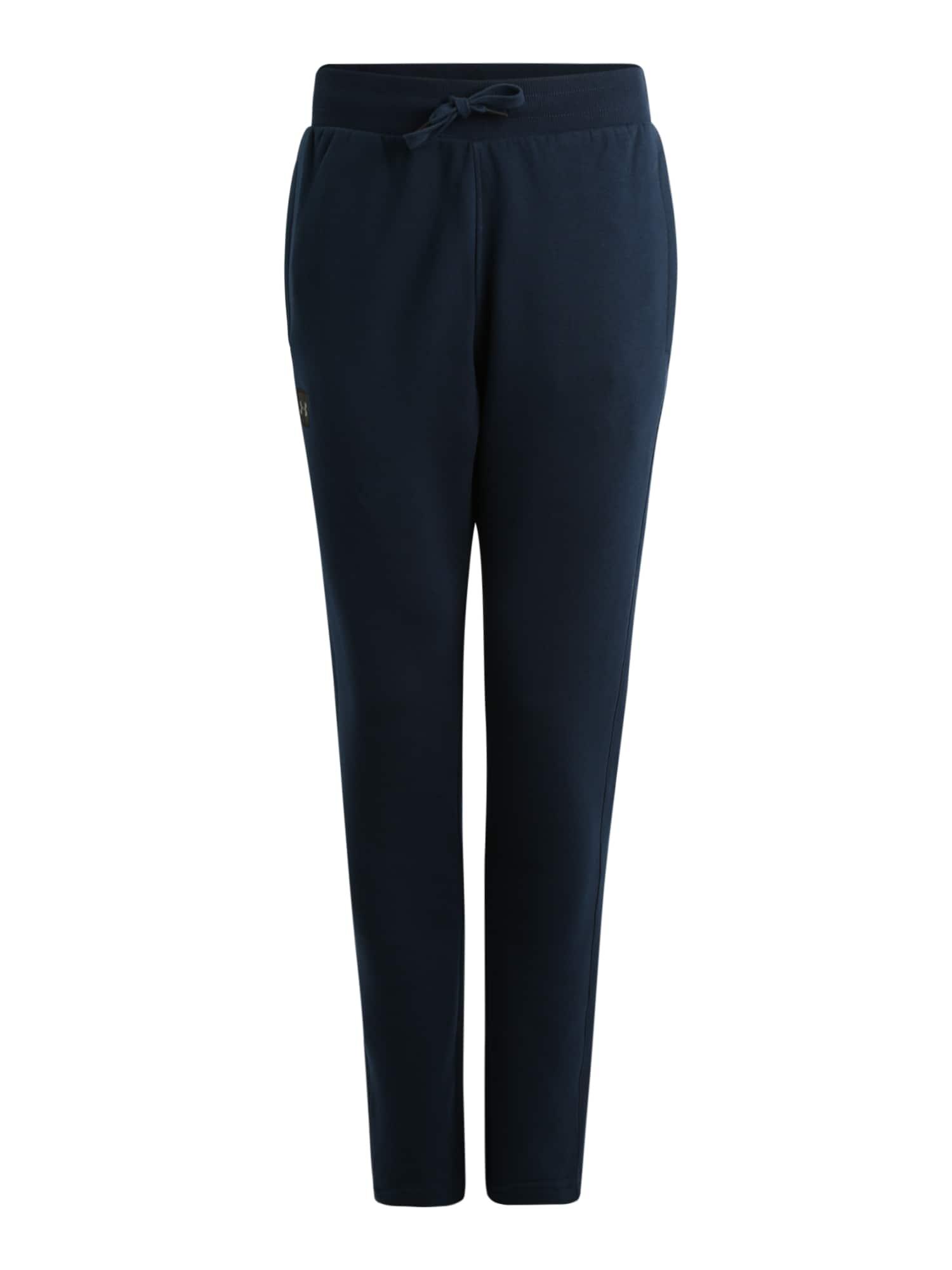 UNDER ARMOUR Sportinės kelnės 'FLEECE' juoda / tamsiai mėlyna