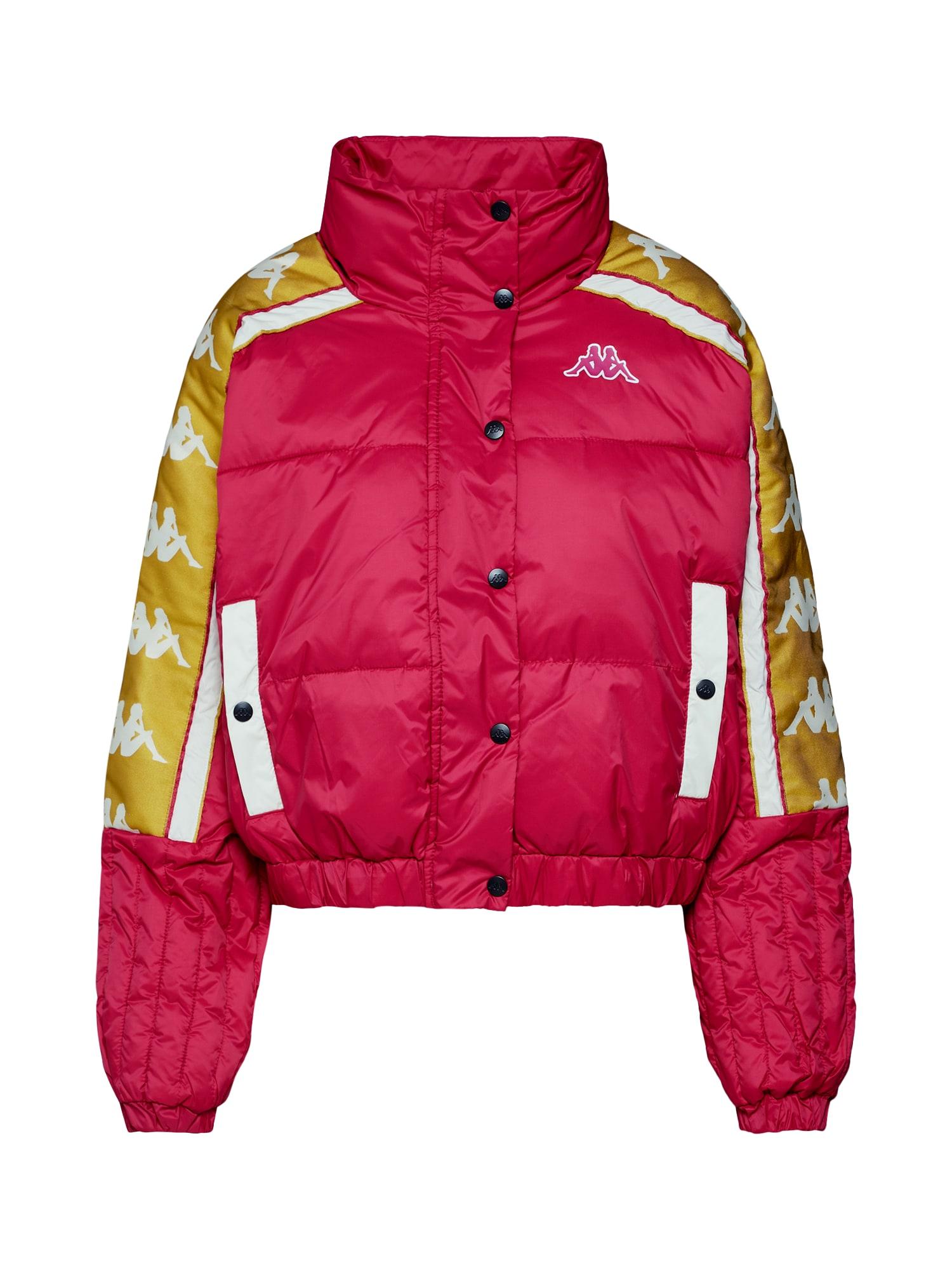 Zimní bunda 222 BANDA ALYSON jasně oranžová tmavě růžová KAPPA