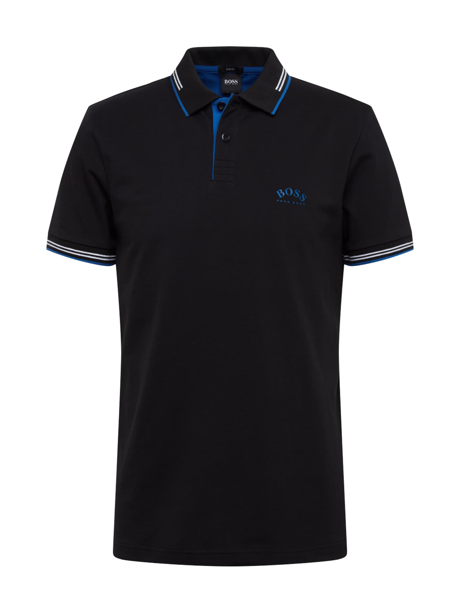 BOSS ATHLEISURE Marškinėliai 'Paul Curved' juoda