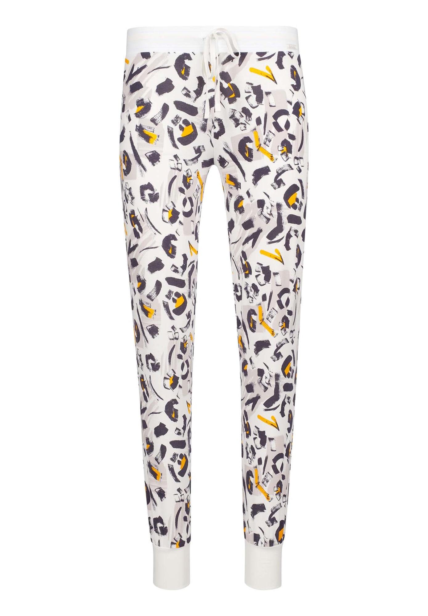 Skiny Pižaminės kelnės 'Earth Sleep' balta / mišrios spalvos