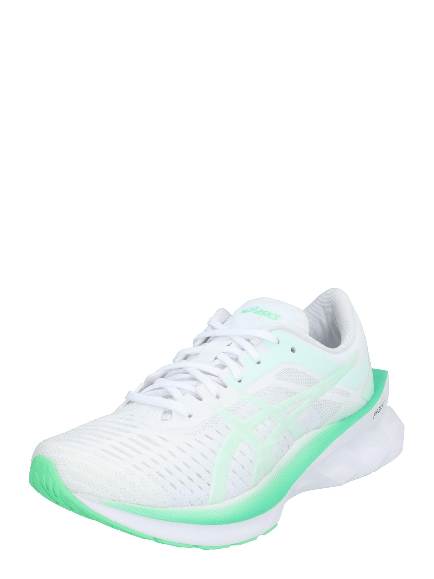 ASICS Sportiniai batai 'NOVABLAST' mėtų spalva / balta
