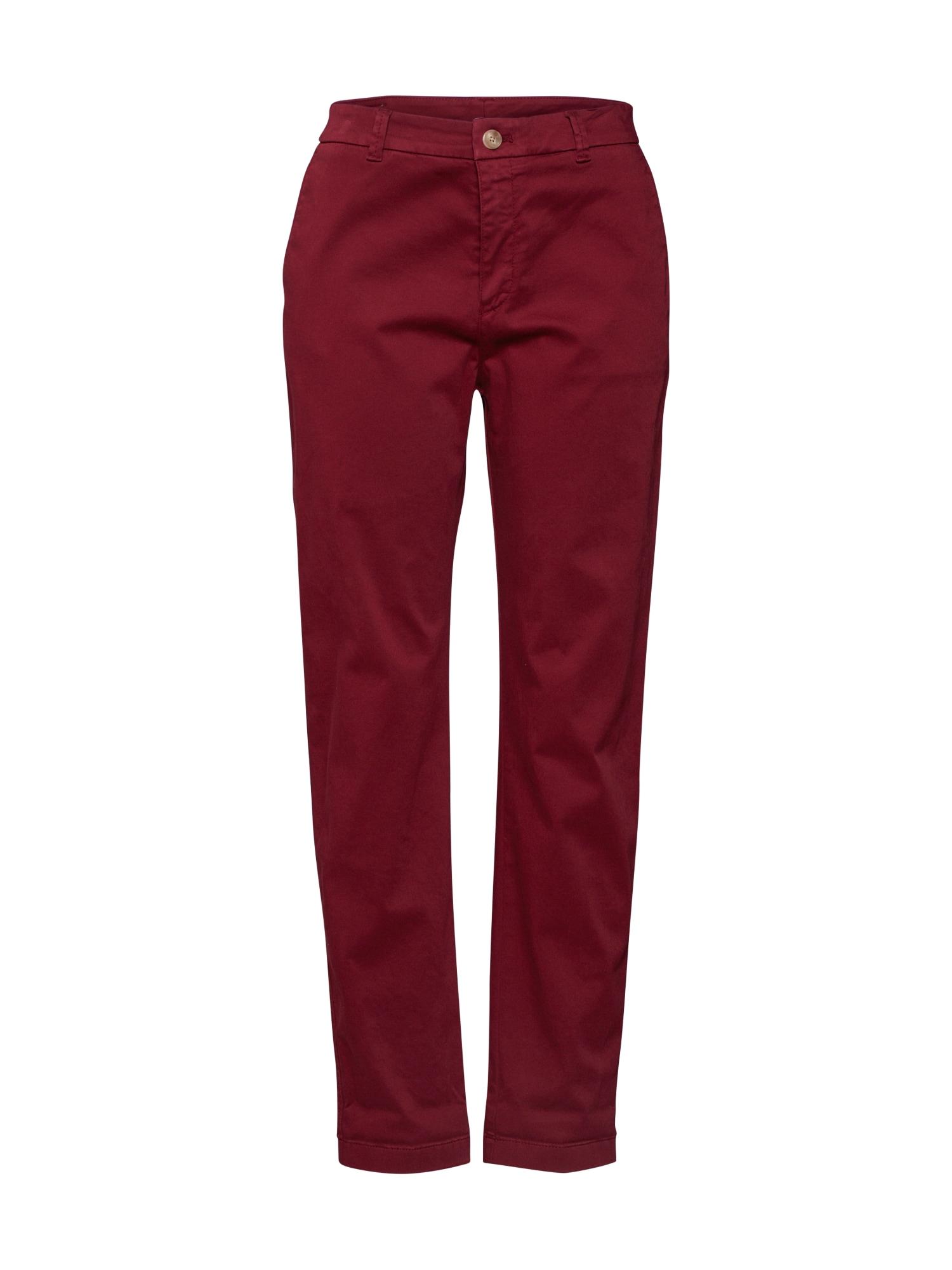BOSS Chino stiliaus kelnės 'Sachini3-D' raudona