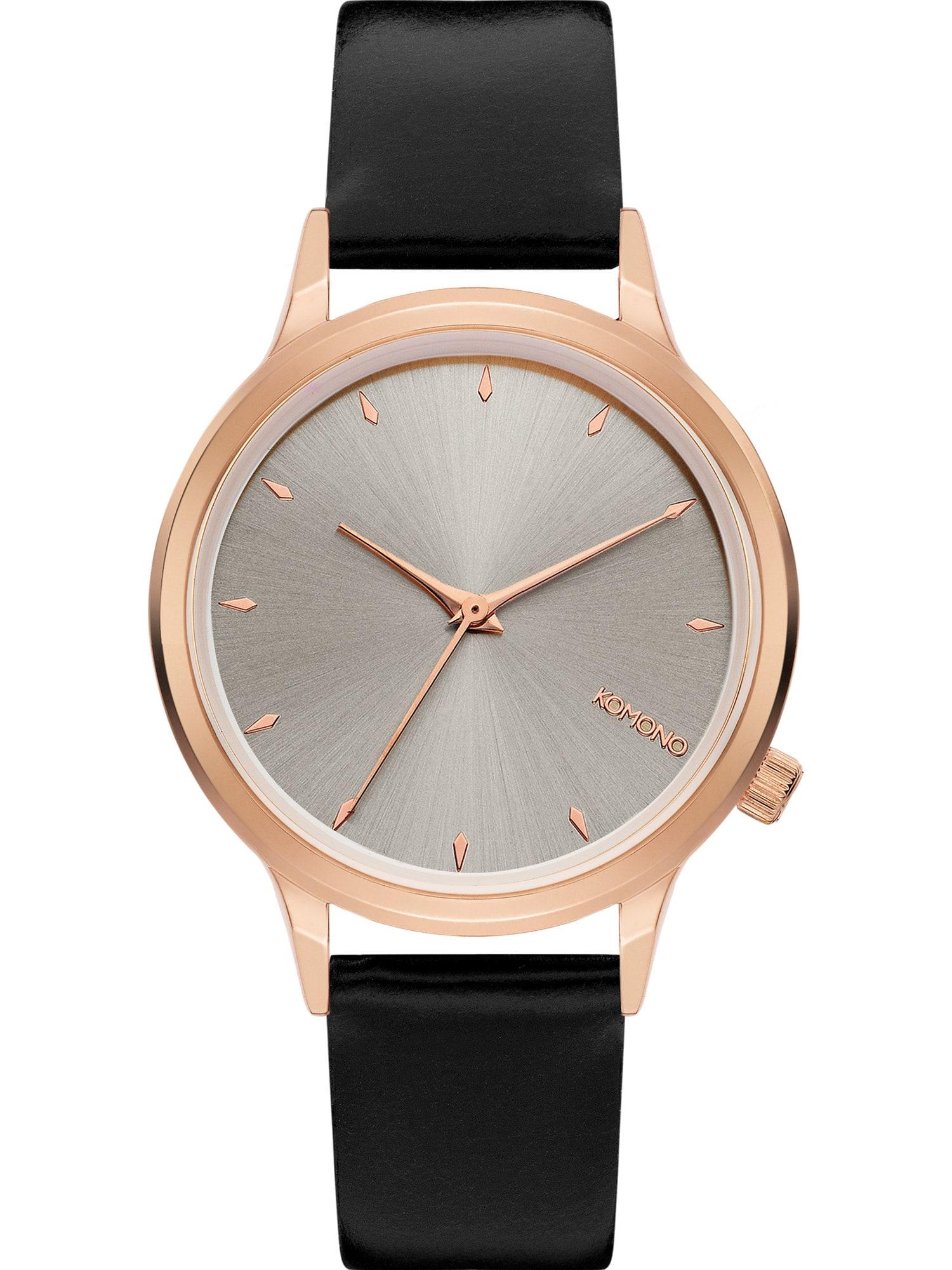 Analogové hodinky Lexi růžově zlatá kouřově šedá černá Komono