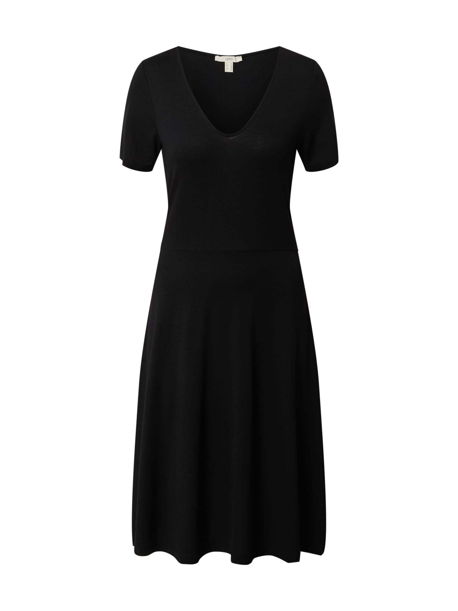 ESPRIT Suknelė 'Dresses knitted mini' juoda