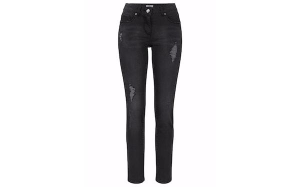 Hosen für Frauen - ANISTON 5 Pocket Jeans schwarzmeliert  - Onlineshop ABOUT YOU