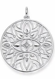 THOMAS SABO Damen Kettenanhänger Mandala-Ornamentik D_PE0002-725-21 silber | 04051245292497
