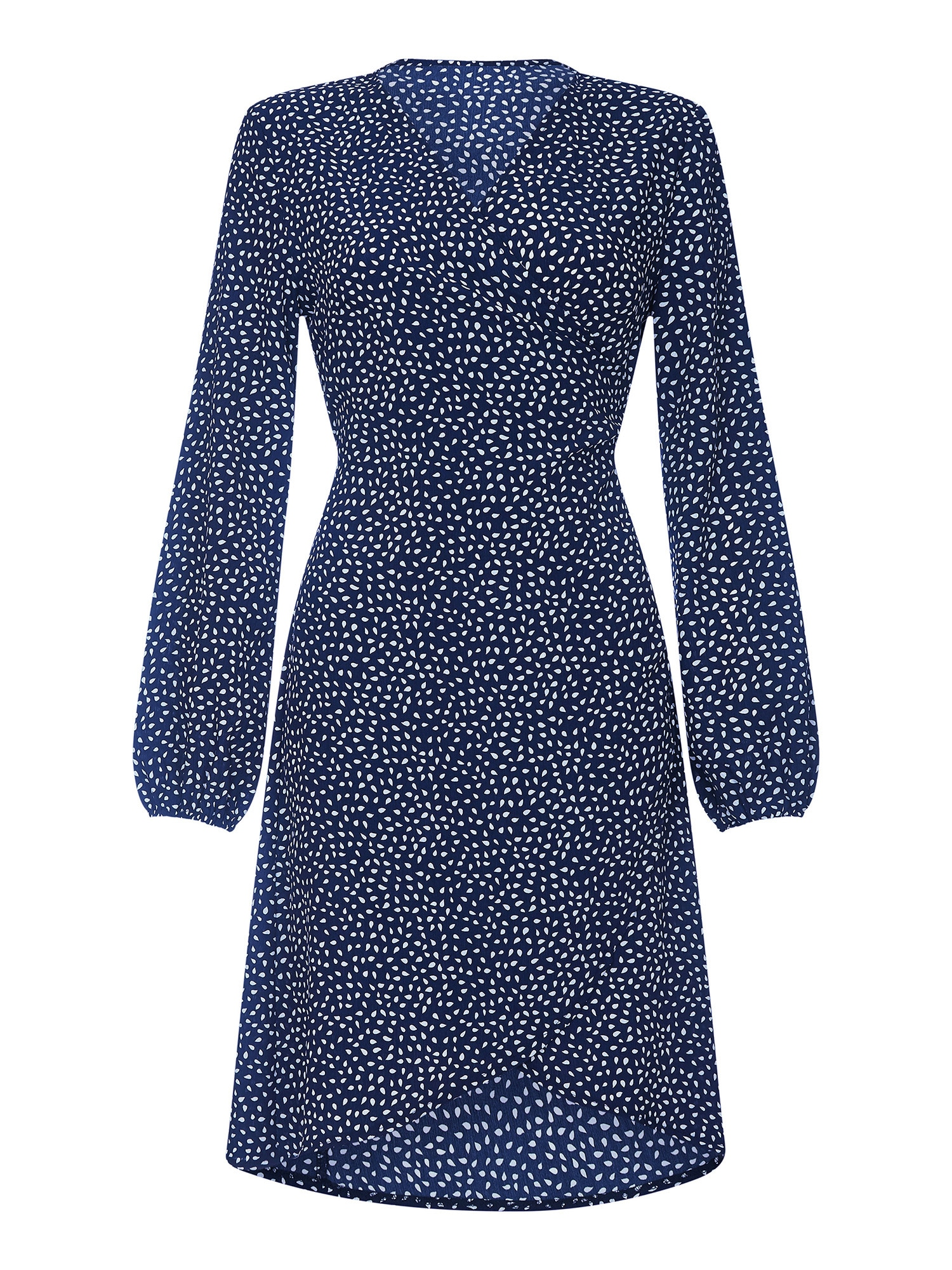 Šaty SPOTTY námořnická modř bílá Mela London