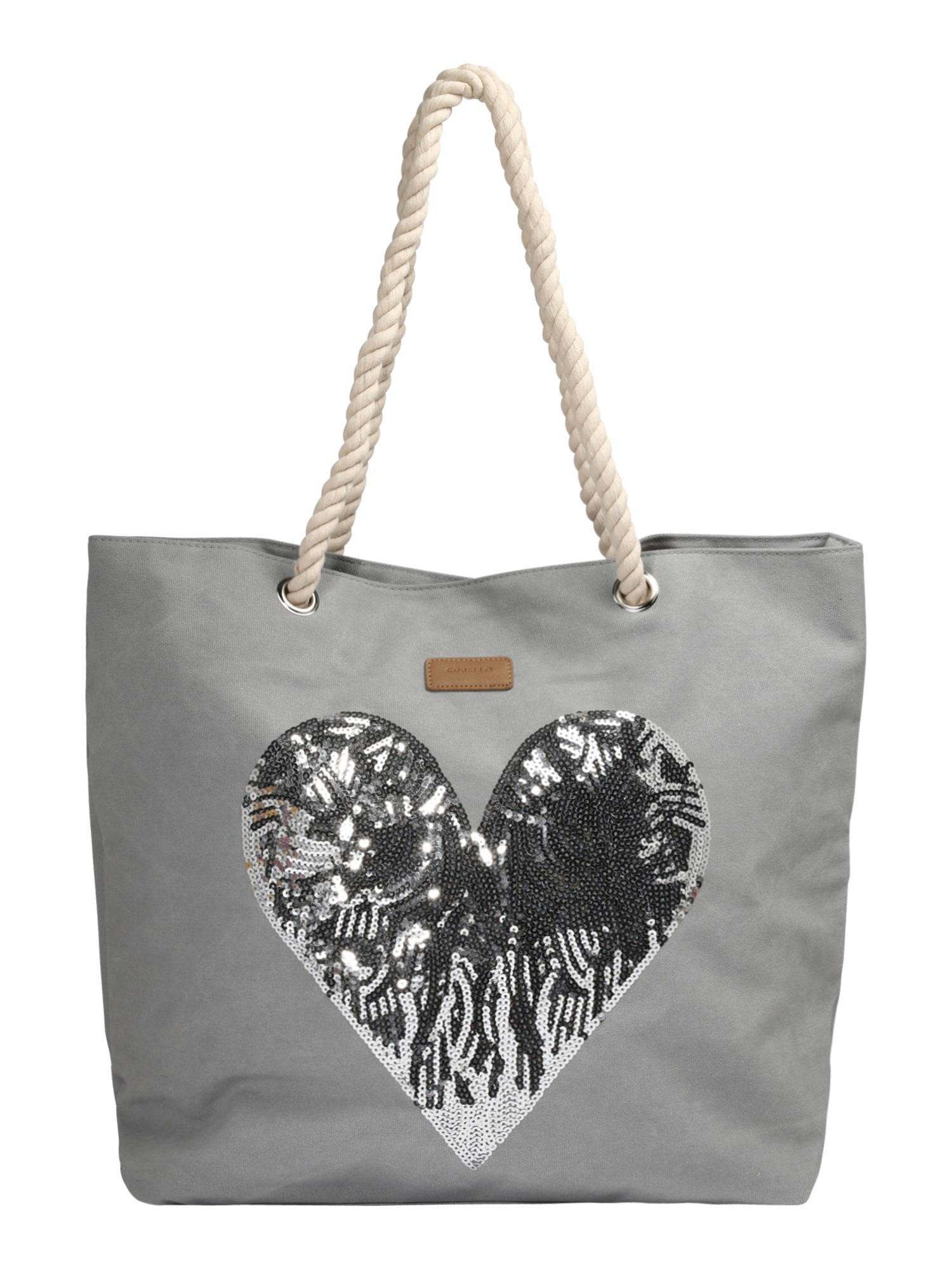 Nákupní taška HEART SEQUINE světle šedá CODELLO