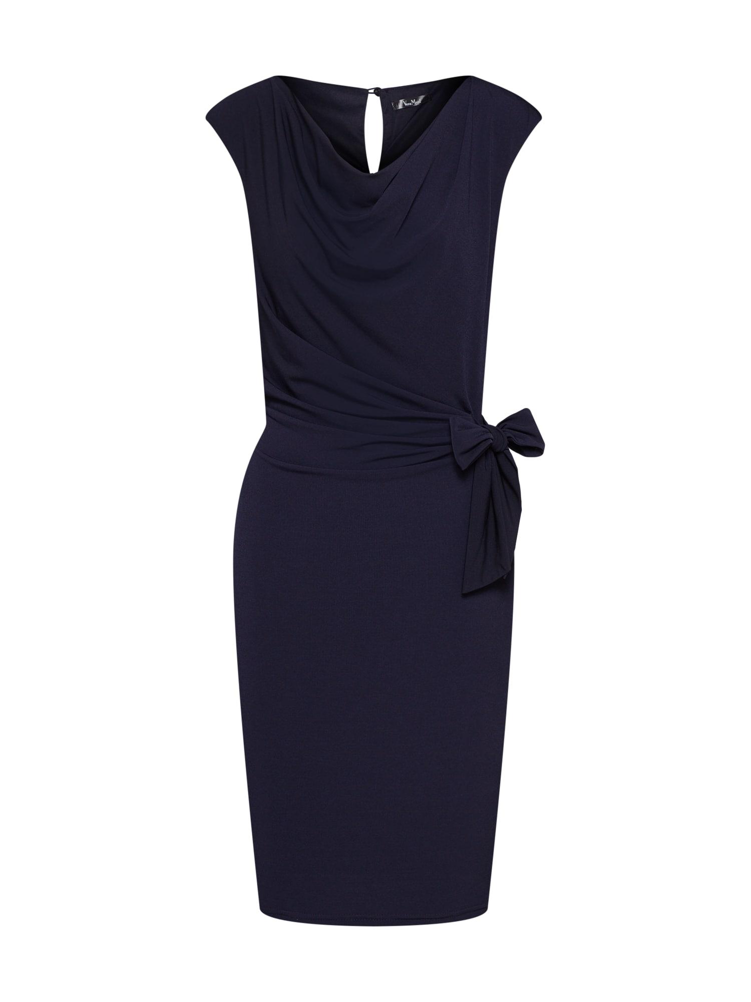 Vera Mont Trumpa kokteilinė suknelė tamsiai mėlyna