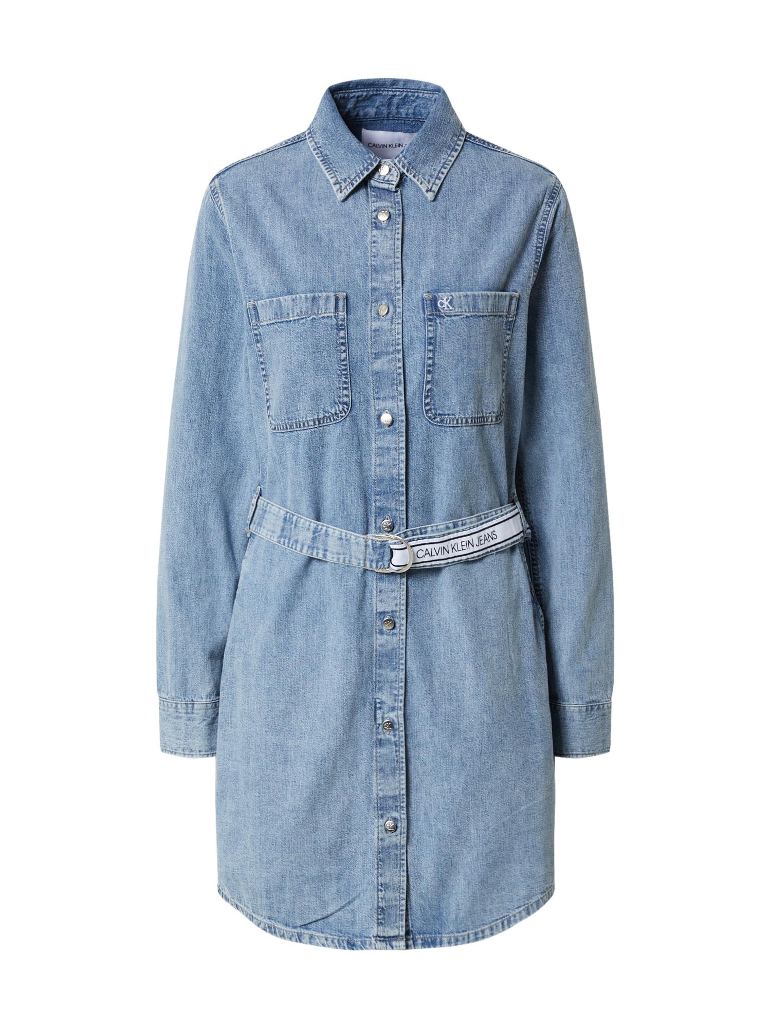 Calvin Klein Jeans Palaidinės tipo suknelė tamsiai (džinso) mėlyna