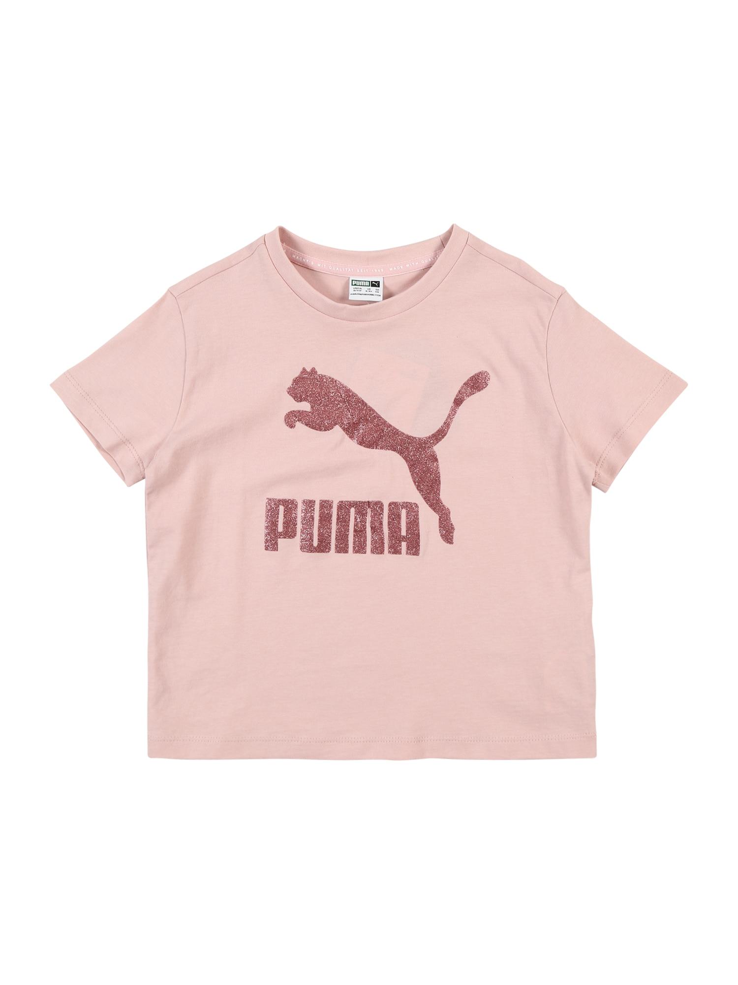 PUMA Tričko  pastelově růžová / růžově zlatá