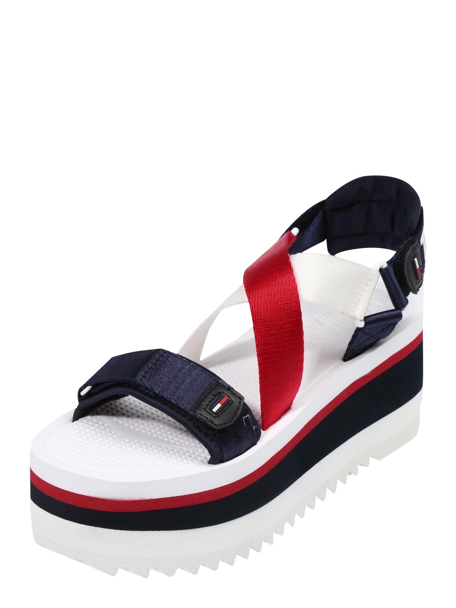 Páskové sandály COLETTE modrá červená bílá Tommy Jeans