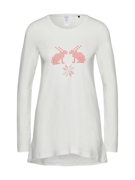 Waesche für Frauen - Skiny Pyjama Oberteil 'Holiday Fun' weiß  - Onlineshop ABOUT YOU