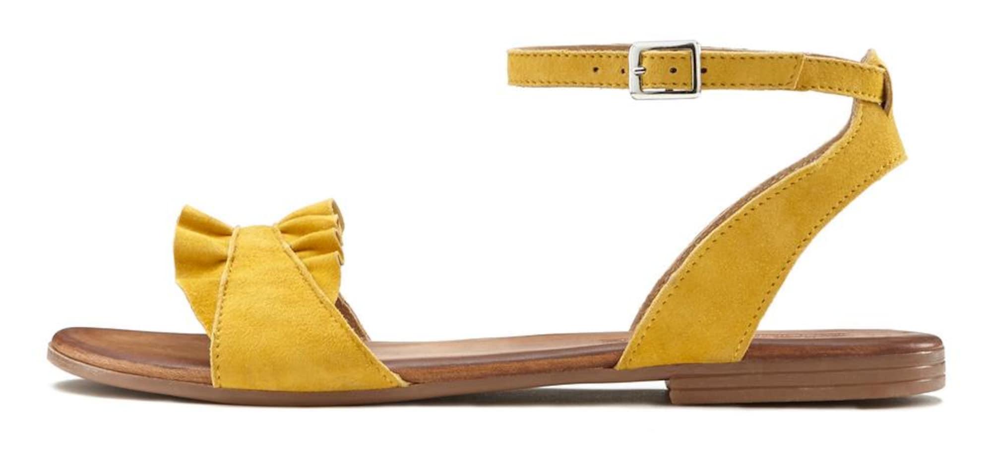 LASCANA Basutės su dirželiais geltona