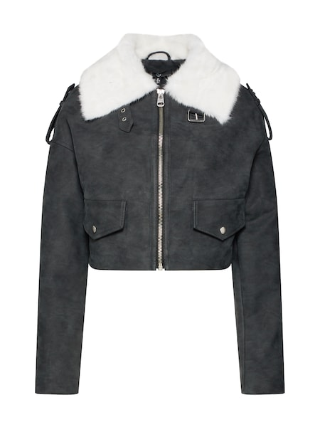 Jacken - Jacke 'BOXY VINTAGE PILOT JACKET' › Missguided › anthrazit  - Onlineshop ABOUT YOU