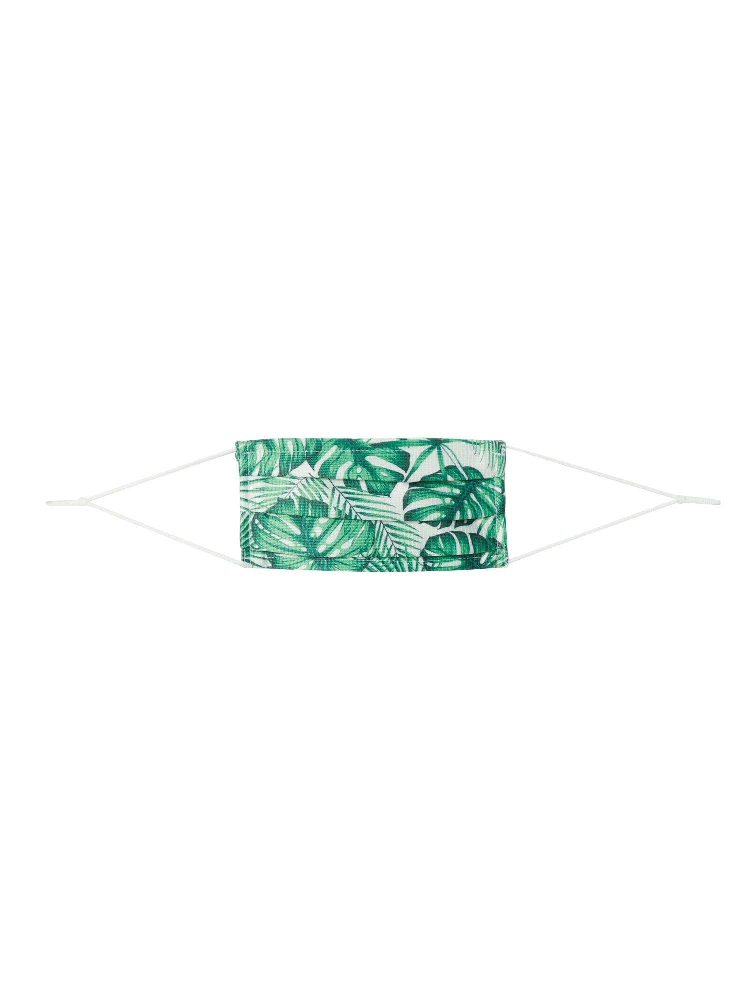 MEINFOTO, CUSTOMASK Látkové rúško 'CUSTOMASK PREMIUM'  zelená / biela