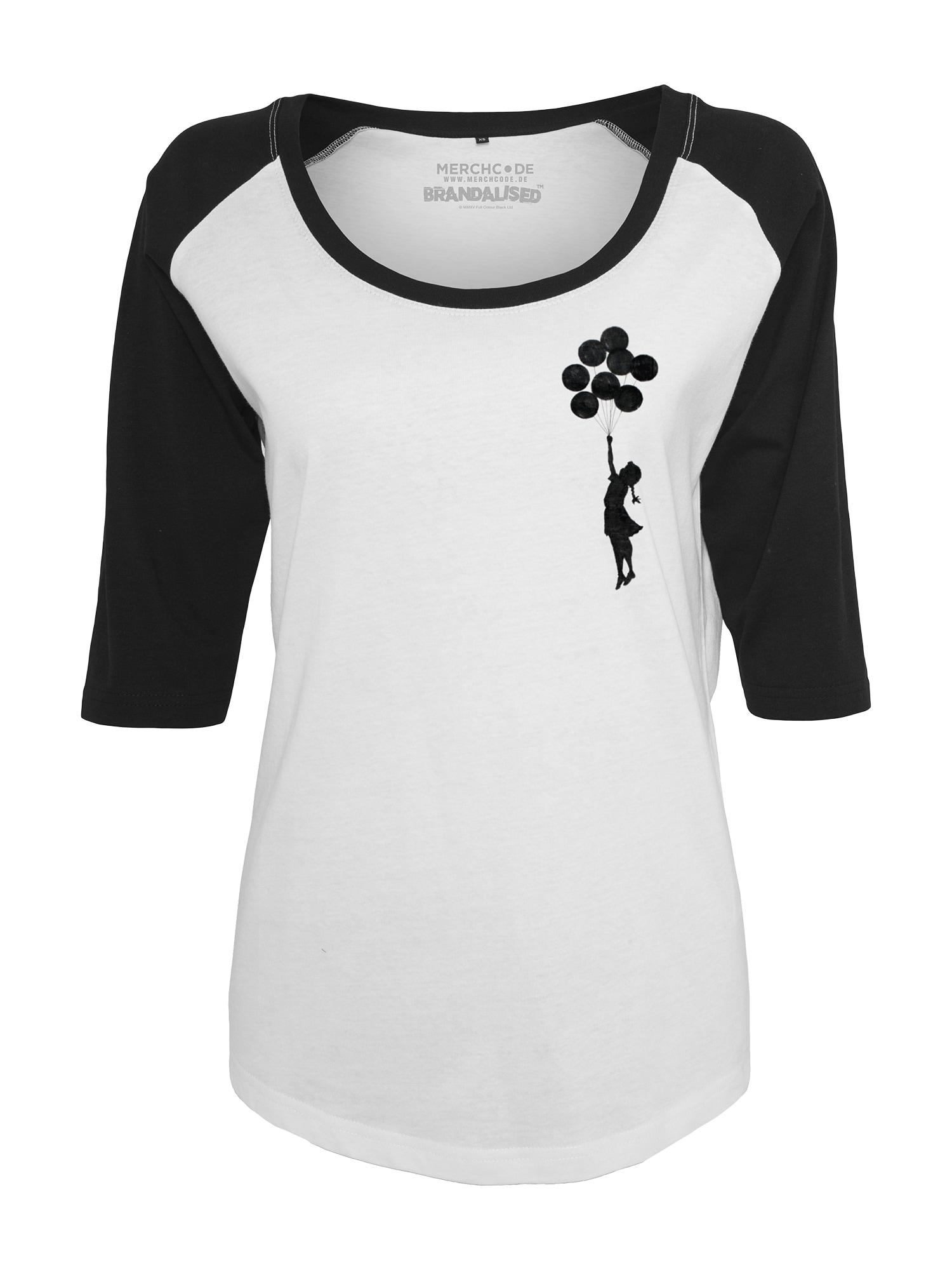 Tričko Banksy Balloons černá bílá Merchcode