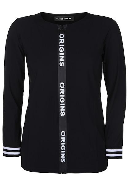 Jacken - Jacke mit Wording Zipper › Doris Streich › schwarz  - Onlineshop ABOUT YOU