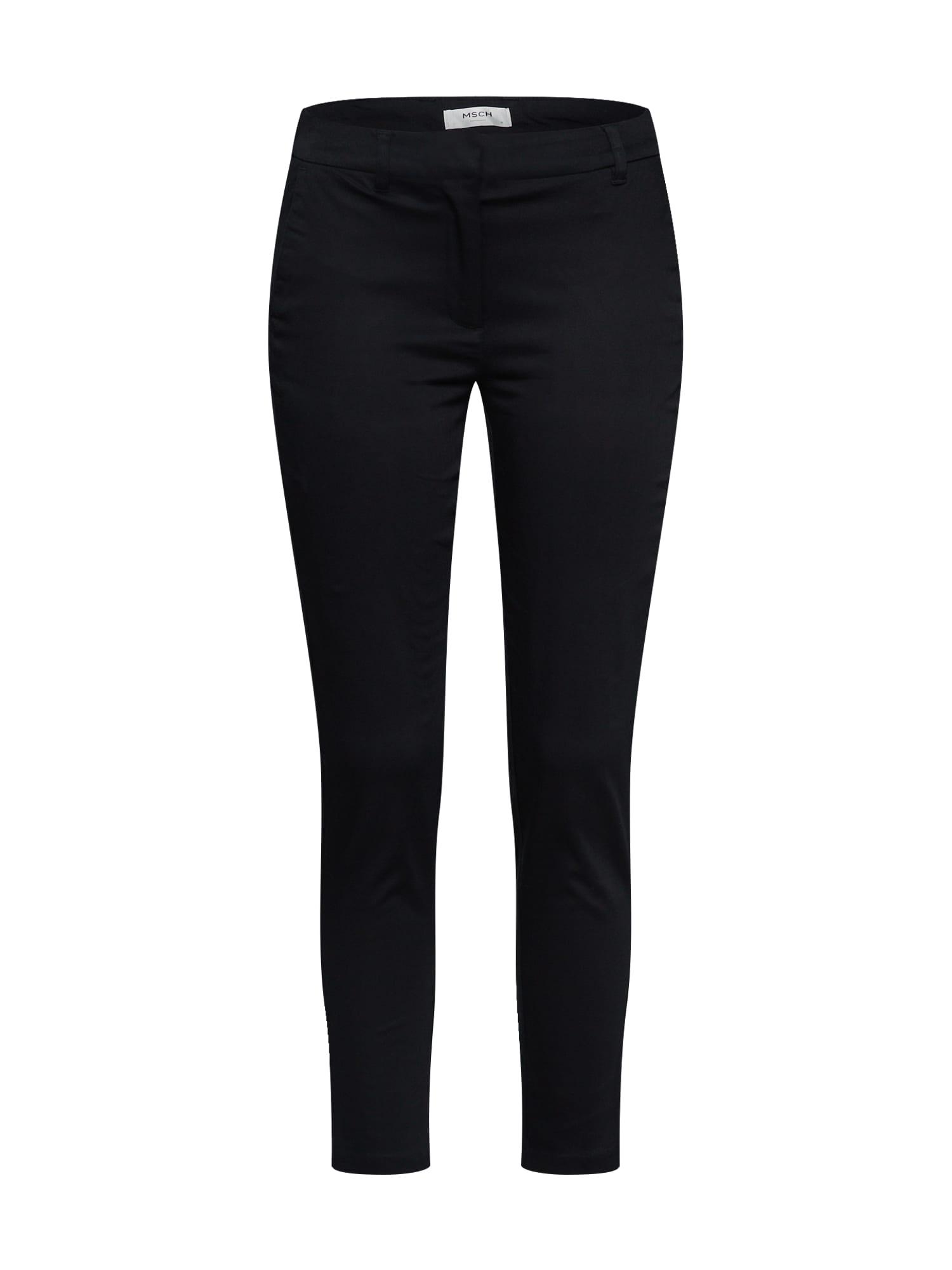 MOSS COPENHAGEN Chino stiliaus kelnės 'FINJA' juoda