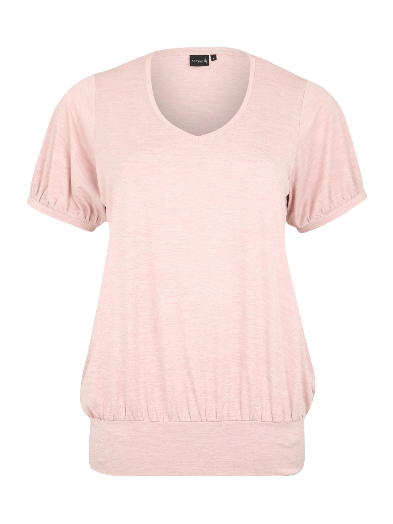 Active by Zizzi Sportiniai marškinėliai 'ASAN FRAN' rausvai violetinė spalva
