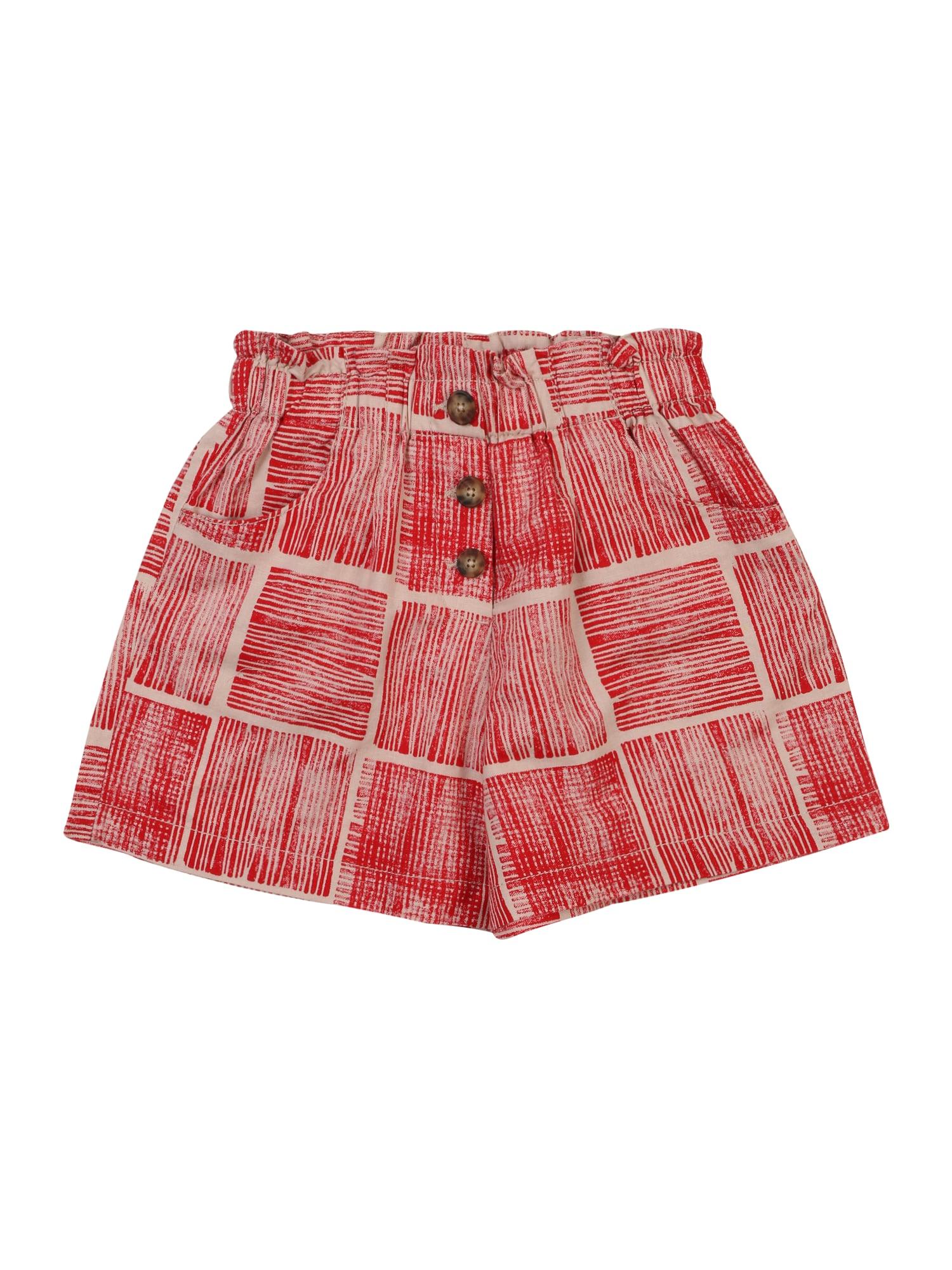 UNITED COLORS OF BENETTON Kelnės raudona / rožių spalva
