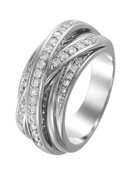 Ringe für Frauen - CHRIST Ring silber weiß  - Onlineshop ABOUT YOU