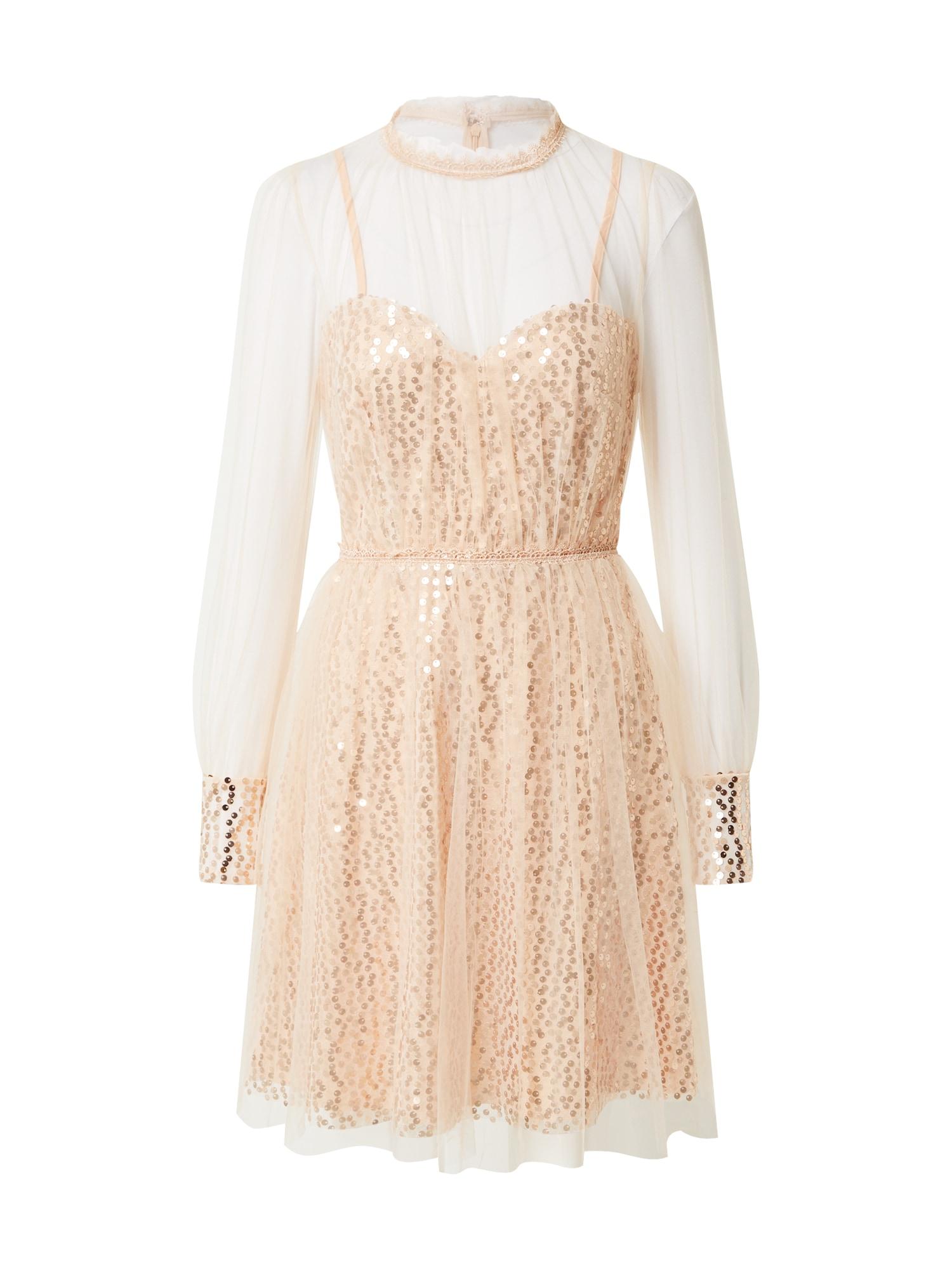 Forever Unique Kokteilinė suknelė rožinio aukso spalva / ryškiai rožinė spalva
