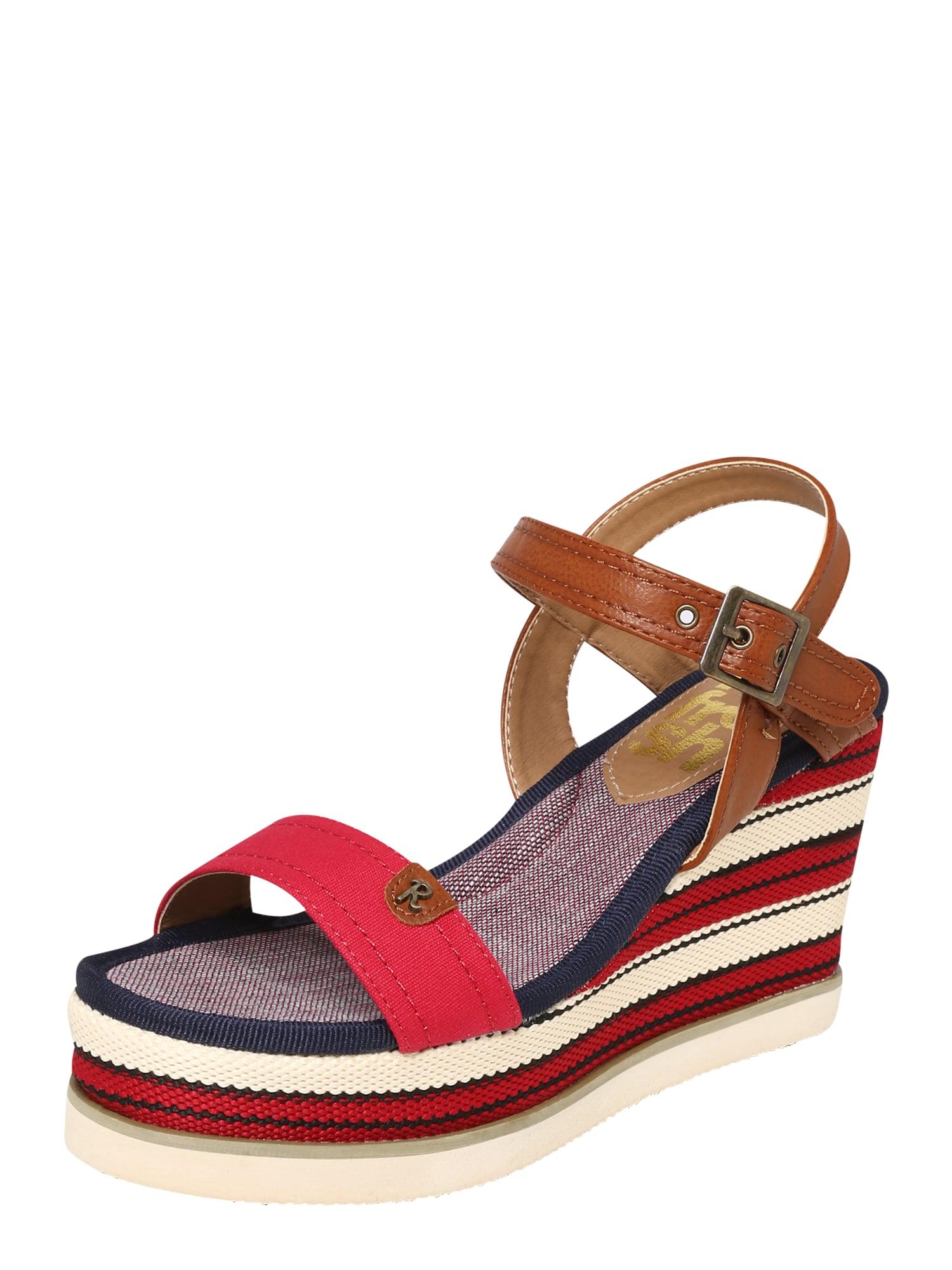 Páskové sandály béžová modrá červená Refresh