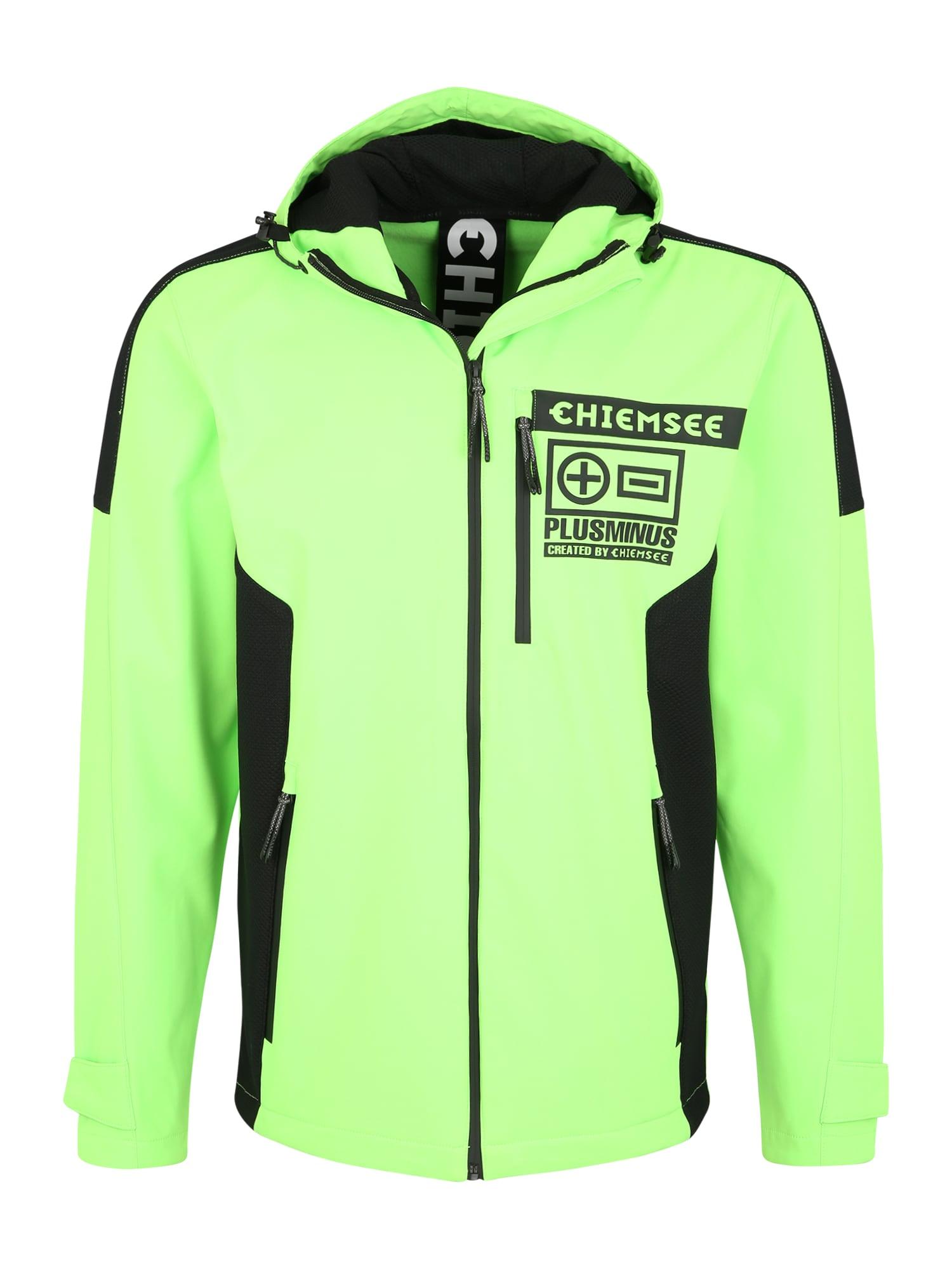 CHIEMSEE Sportinė striukė neoninė žalia