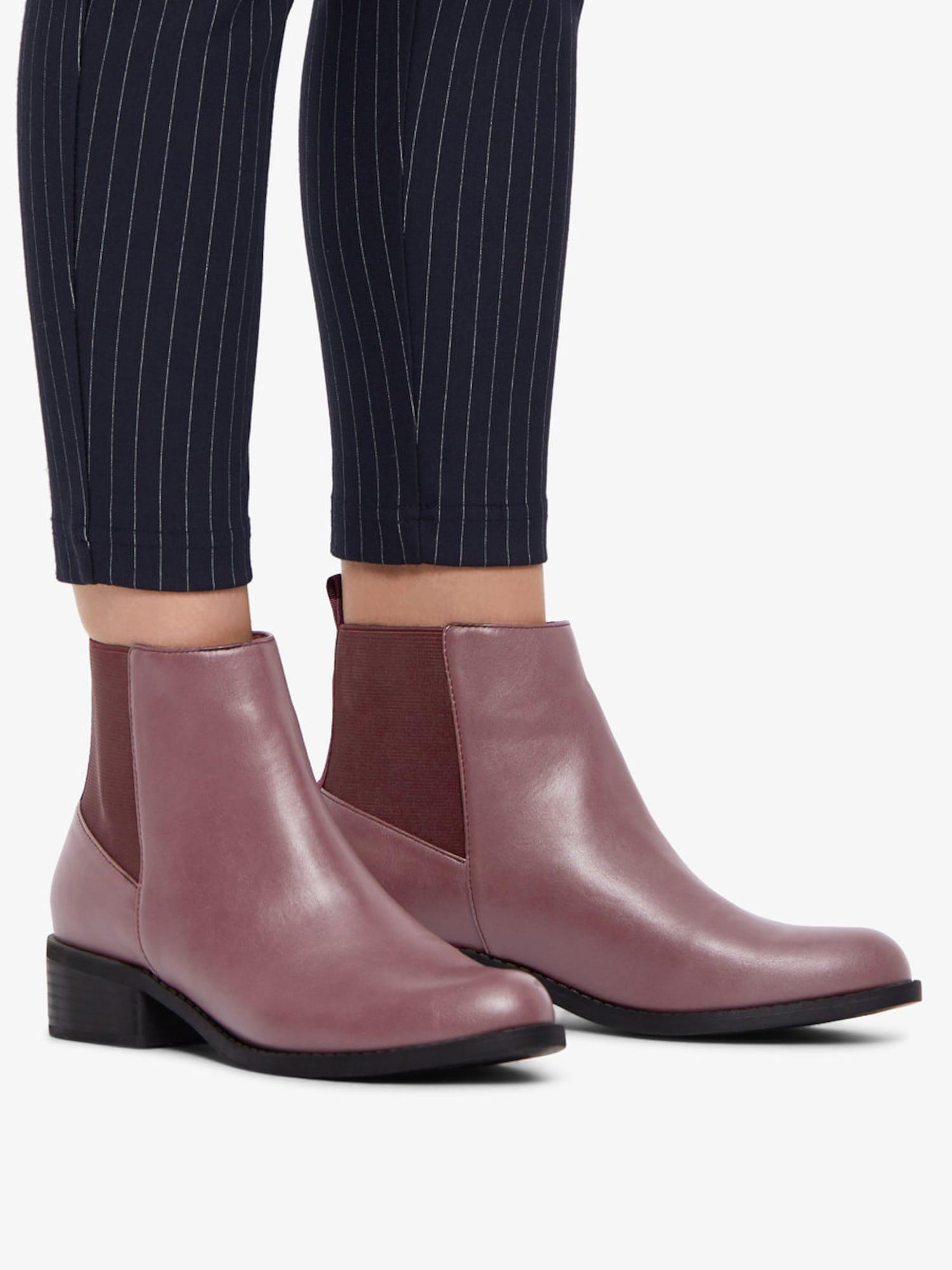 Bianco, Damen Chelsea boots, bessen / framboos