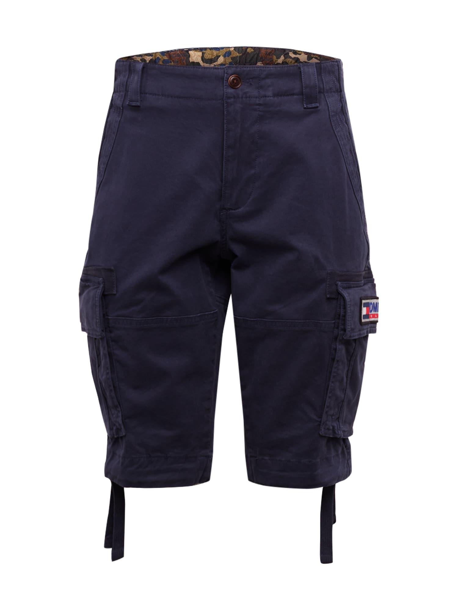 Tommy Jeans Laisvo stiliaus kelnės 'TJM SOLID CARGO SHORT' tamsiai mėlyna