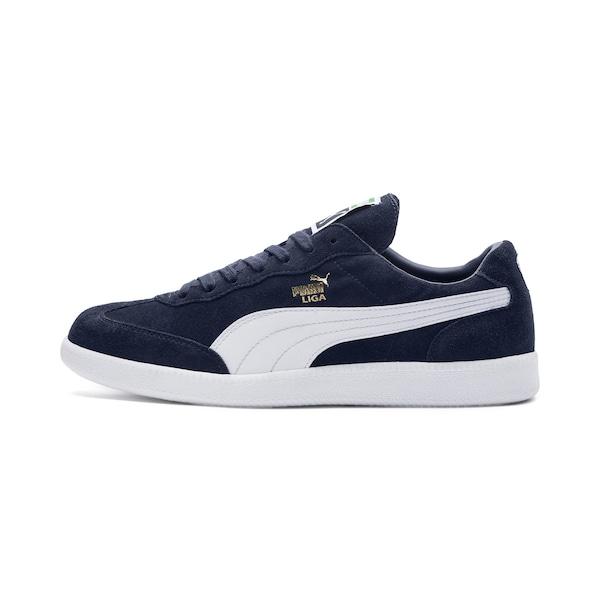 Sneakers für Frauen - PUMA Sneaker 'Liga Suede' nachtblau weiß  - Onlineshop ABOUT YOU