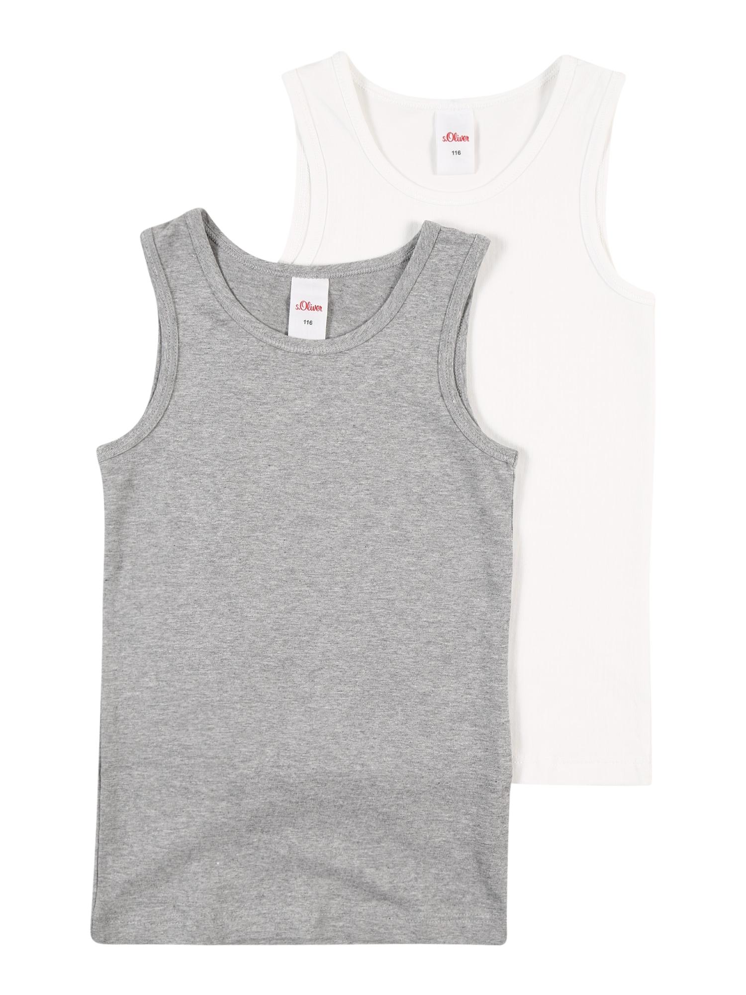 s.Oliver Apatiniai marškinėliai pilka / balta
