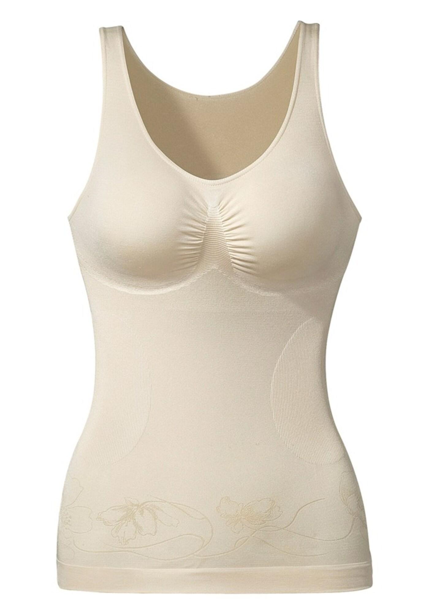 LASCANA Formuojanti palaidinė smėlio / šampano / balta / natūrali balta