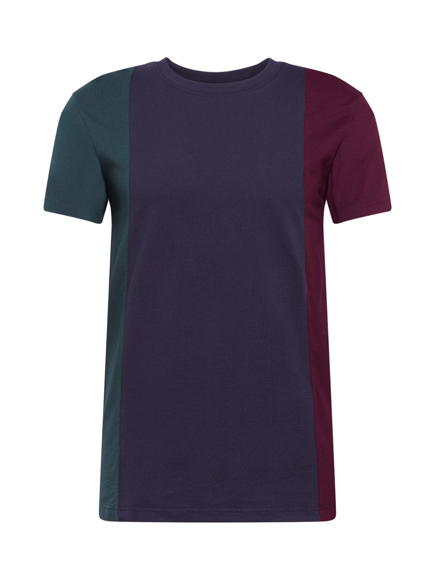 Urban Classics Tričko 'Tripple Tee'  námornícka modrá / jedľová / zmiešané farby