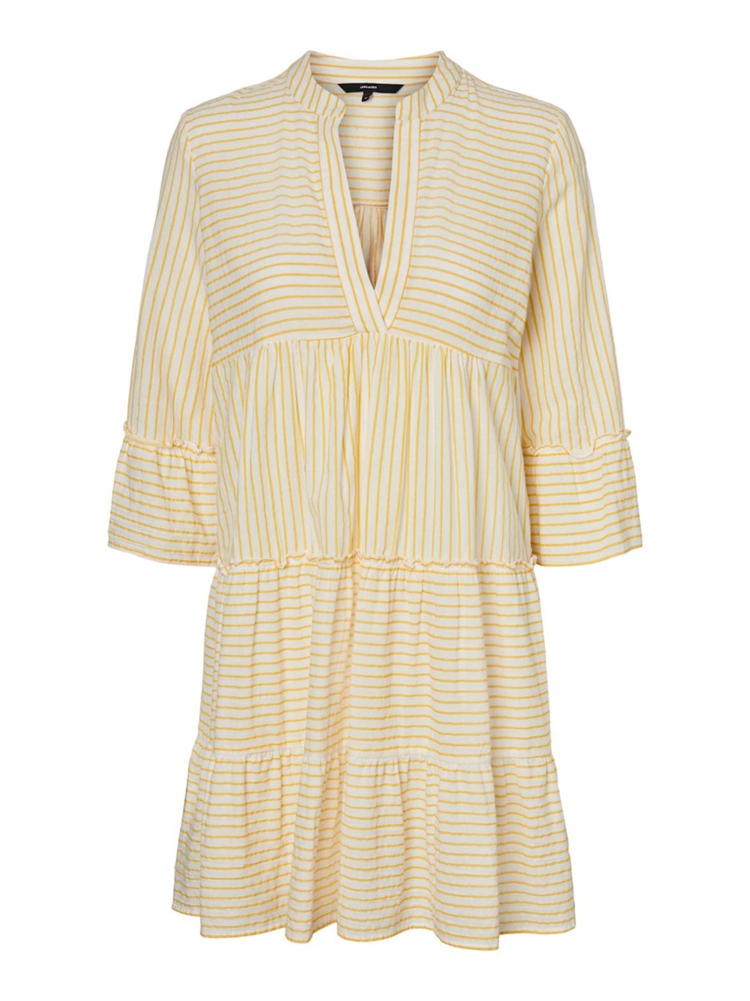 VERO MODA Šaty  žlté / biela