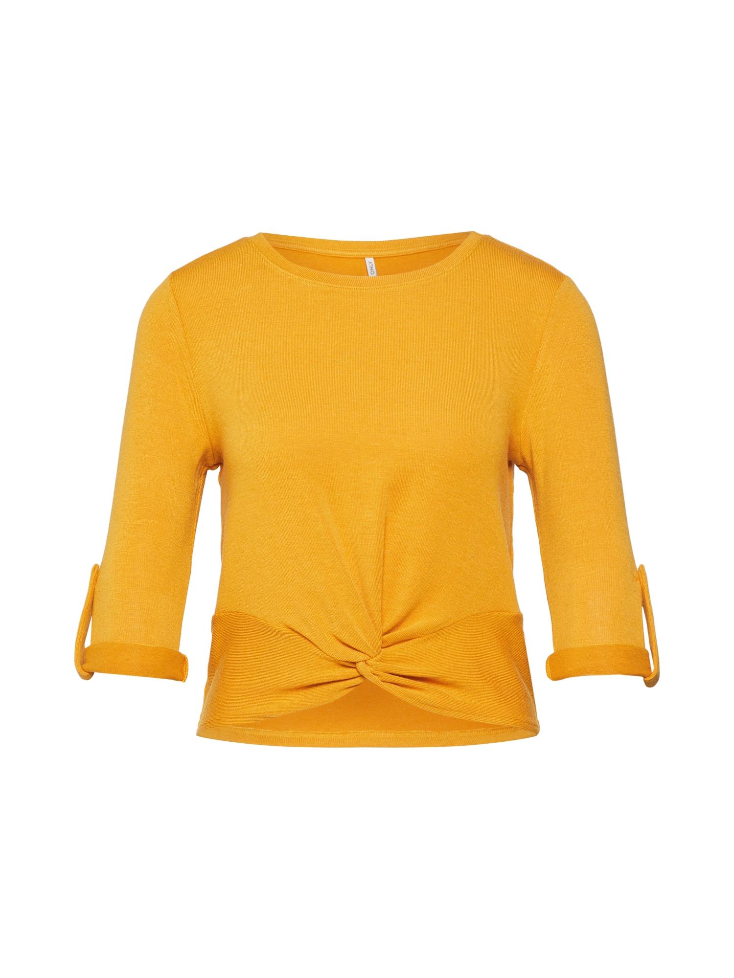 ONLY Marškinėliai 'TINNA' aukso geltonumo spalva