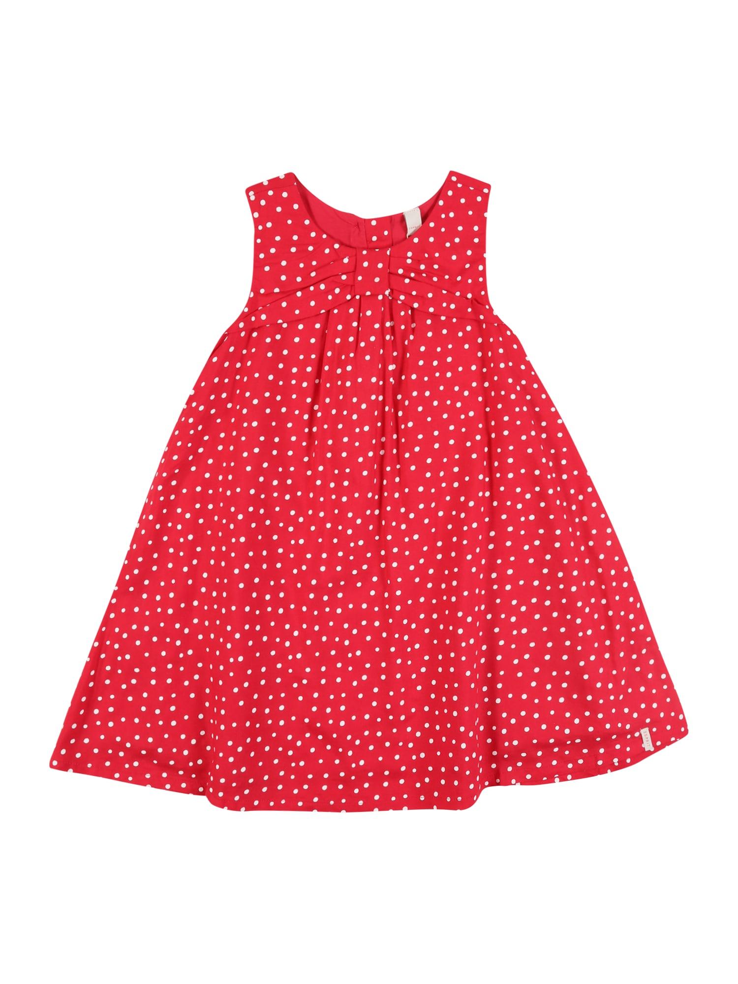 ESPRIT Suknelė balta / ryškiai raudona
