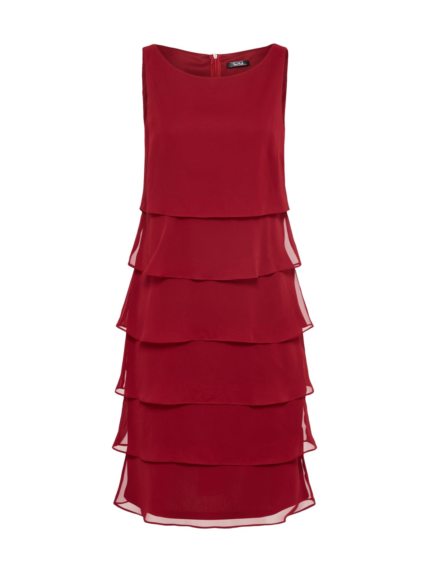Koktejlové šaty burgundská červeň Vera Mont