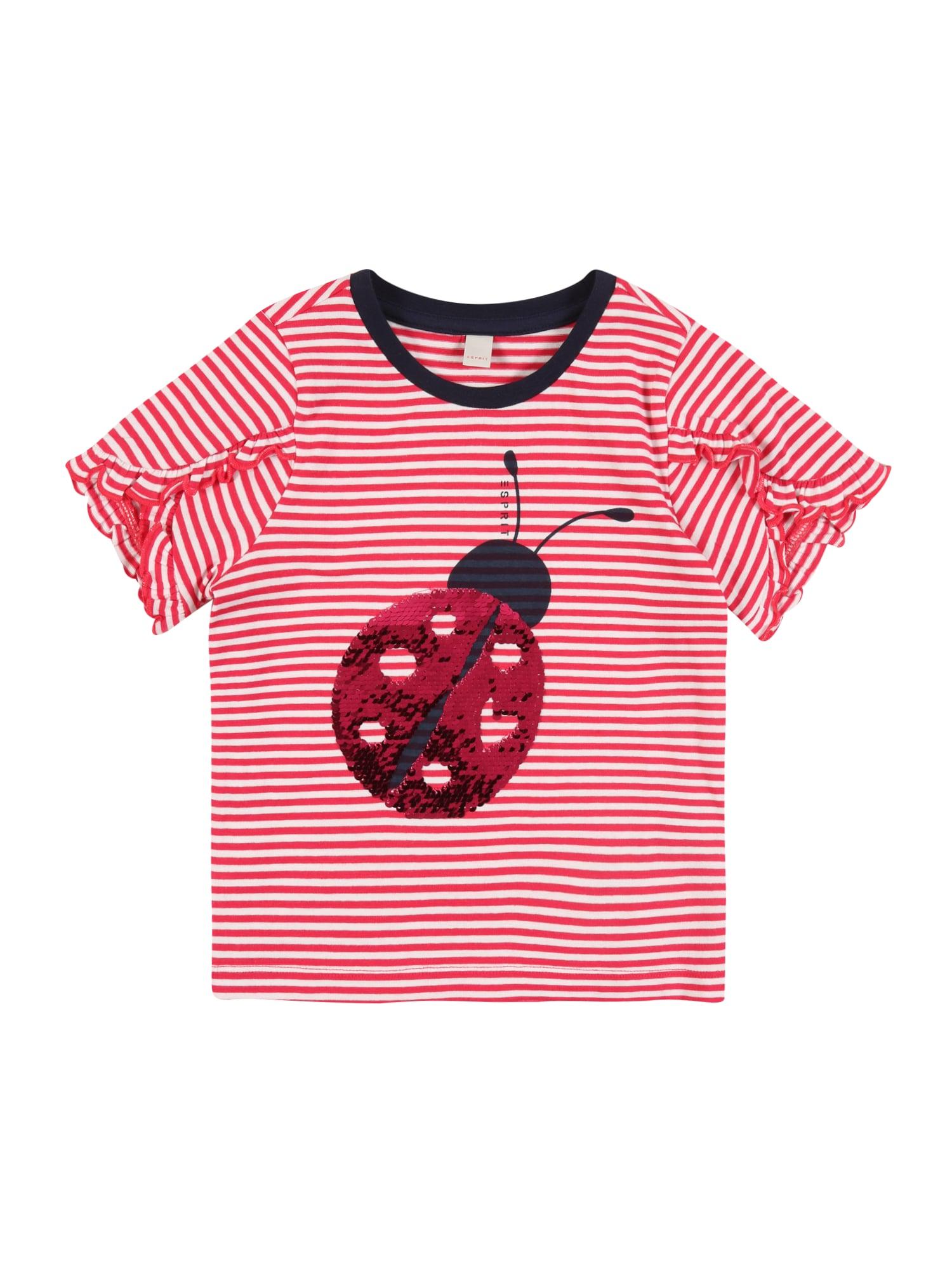 ESPRIT Marškinėliai rožinė / raudona
