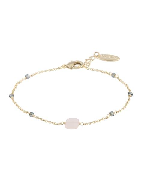 Armbaender für Frauen - Orelia Armkette mit rosa Quartz gold rosa  - Onlineshop ABOUT YOU