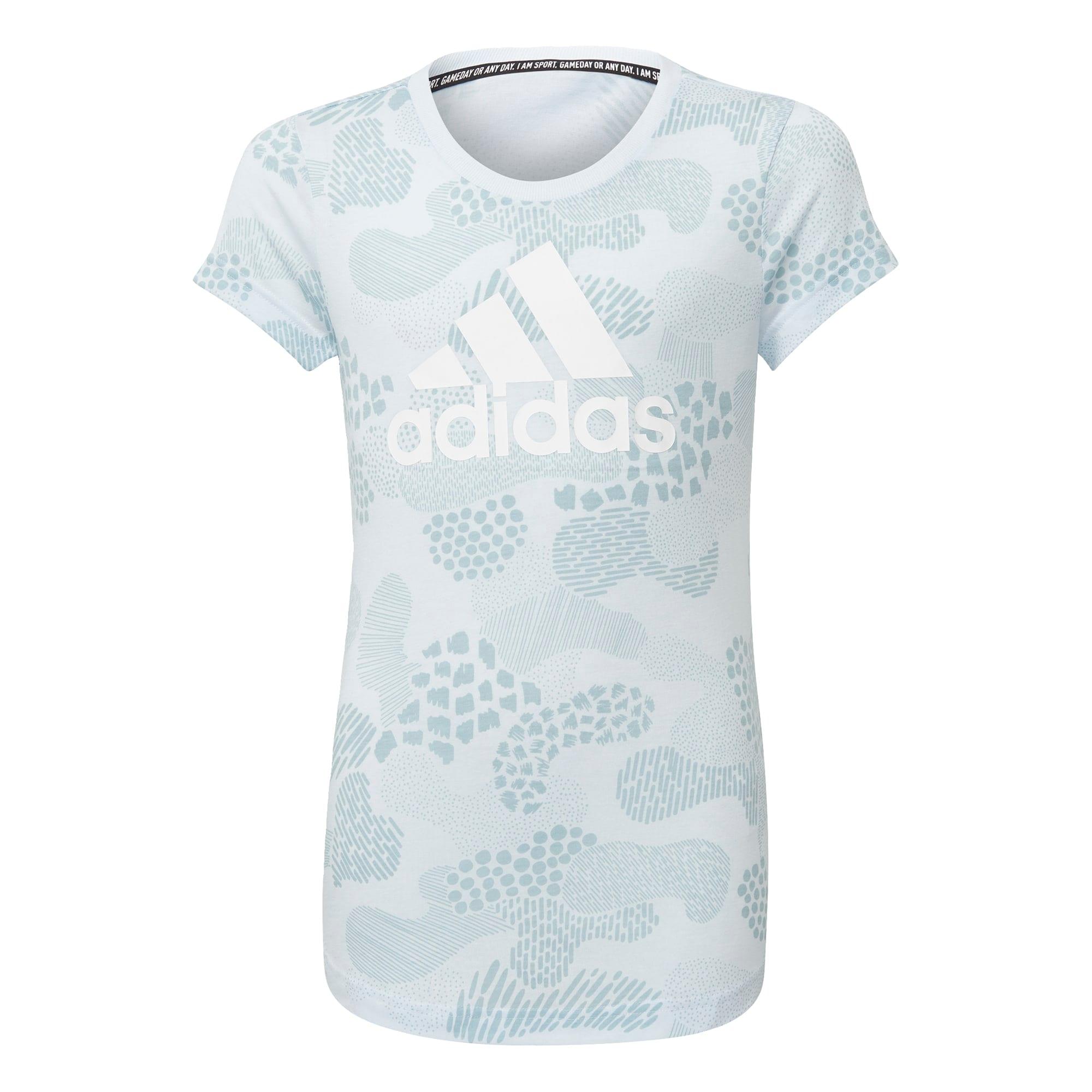 ADIDAS PERFORMANCE Sportiniai marškinėliai margai mėlyna / šviesiai mėlyna / balta