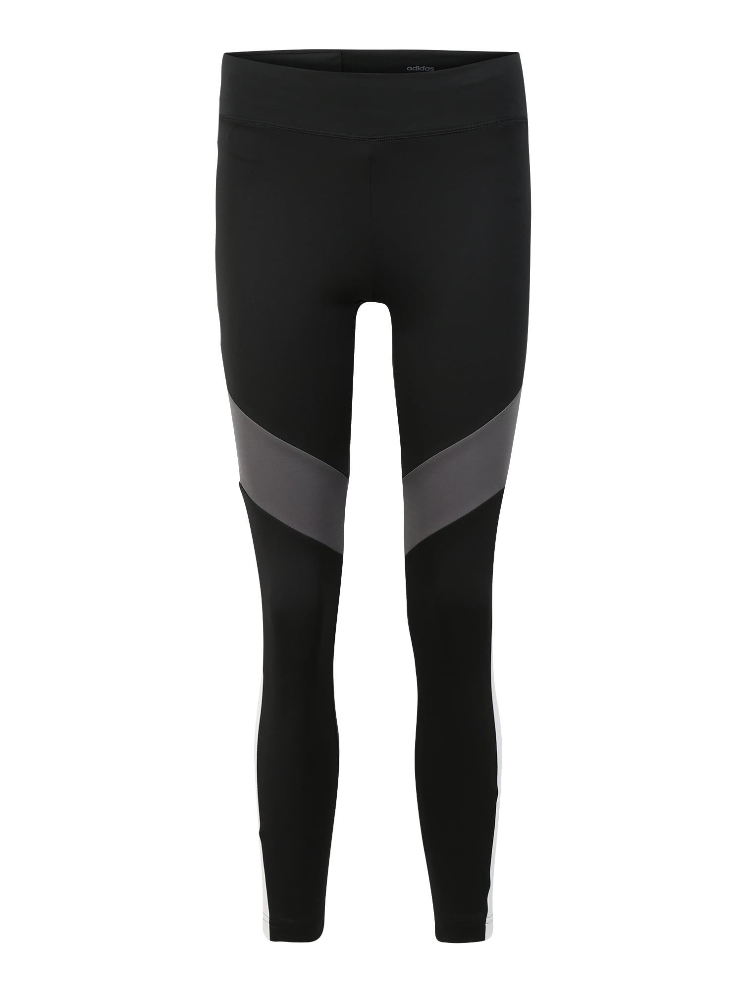 ADIDAS PERFORMANCE Sportinės kelnės balta / juoda / pilka