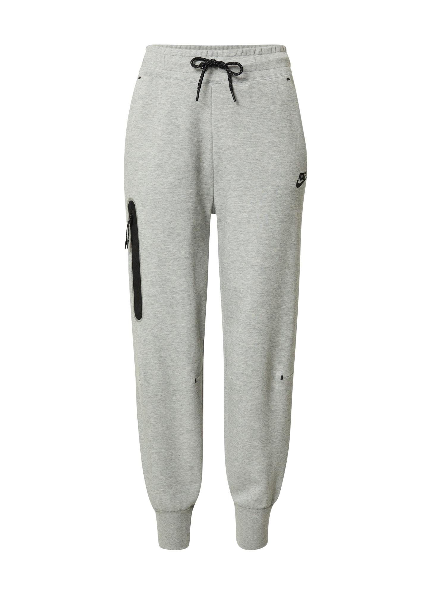 Nike Sportswear Kelnės margai pilka / juoda