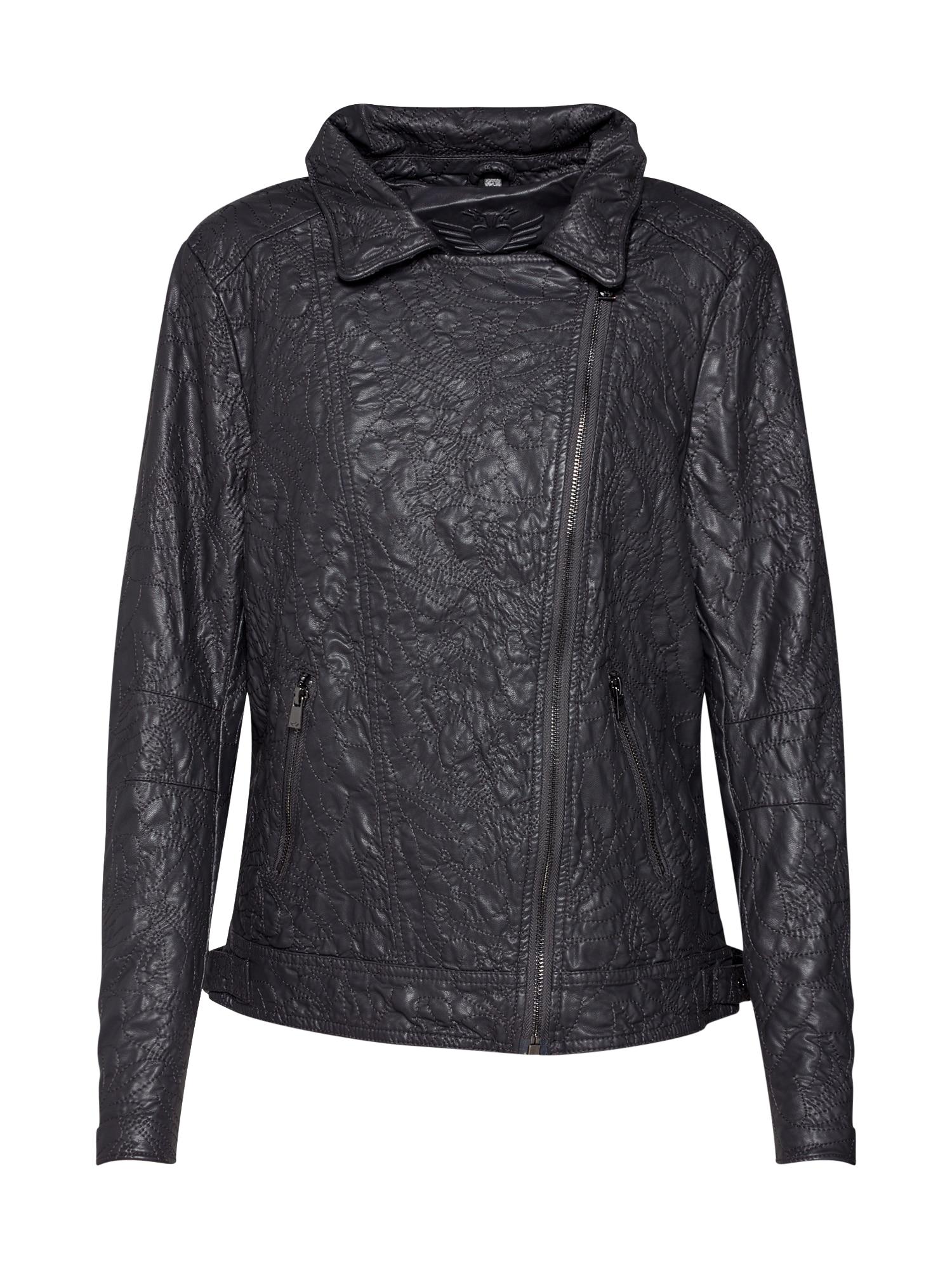 Přechodná bunda Virginia Embroidery antracitová tmavě šedá Fritzi Aus Preußen