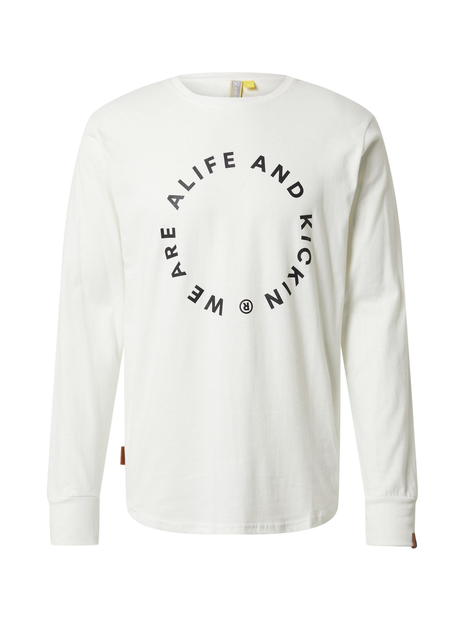 Alife and Kickin Marškinėliai balta / juoda
