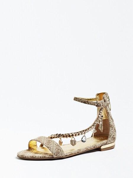 Sandalen für Frauen - GUESS Sandalette 'Radhika' hellbeige braun  - Onlineshop ABOUT YOU